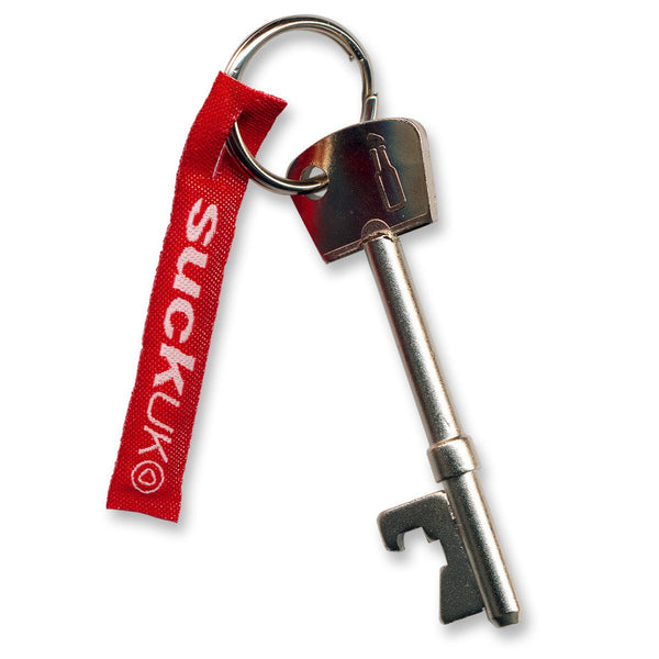 Bottle Opener Key-shaped Keyring