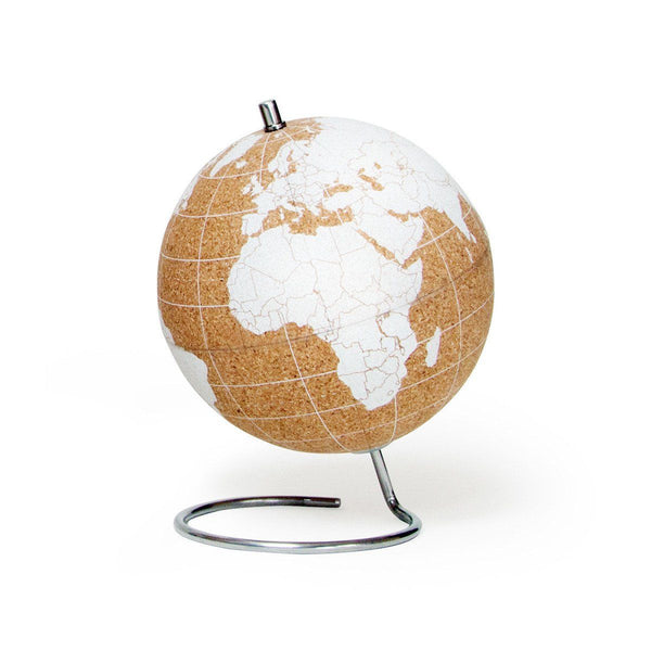Cork Globe Mini White