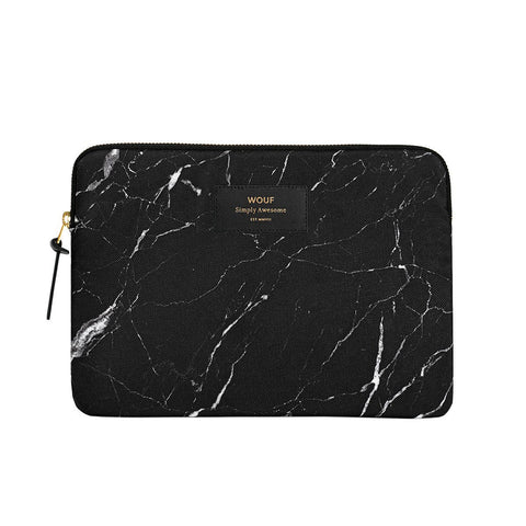 Ipad Sleeve Black Marble
