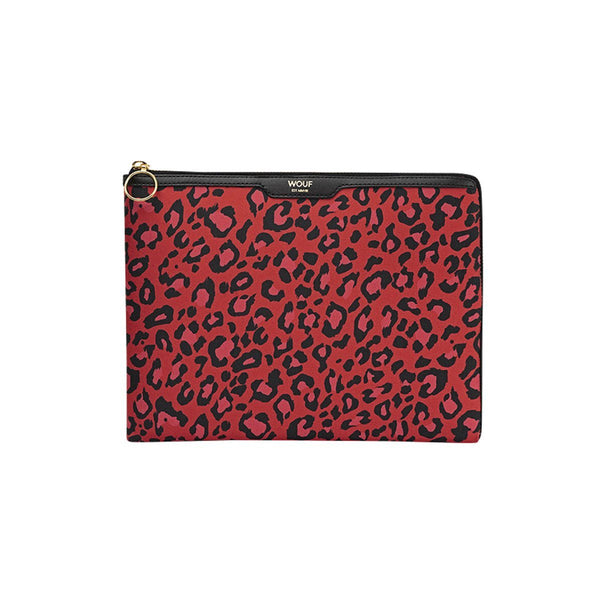 Ipad Sleeve Red Leopard