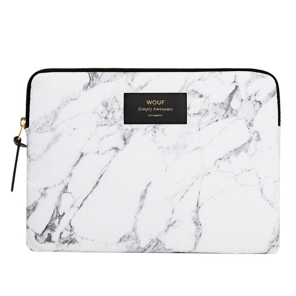 Ipad Sleeve White Marble