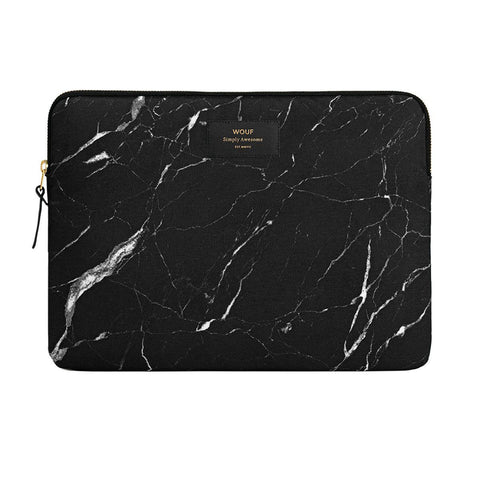 Laptop Sleeve Black Marble