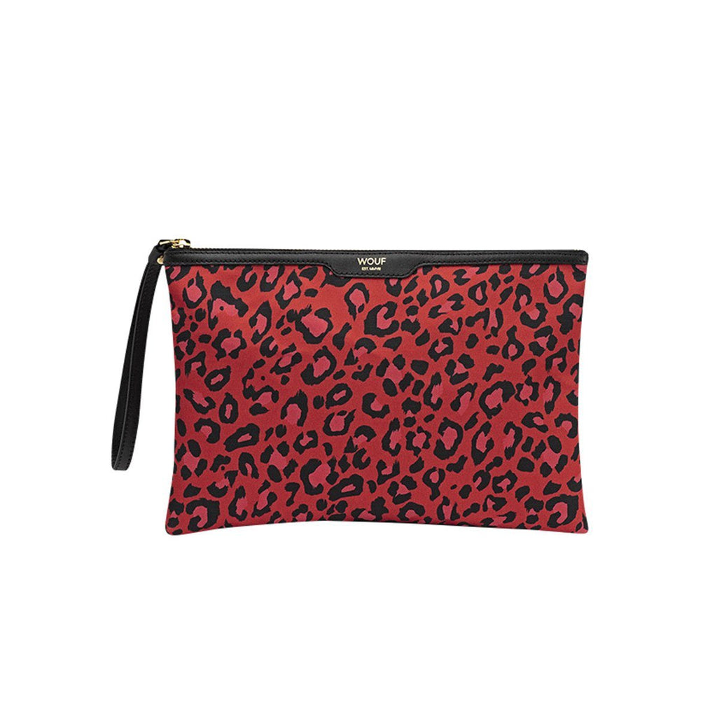 Night Clutch Red Leopard