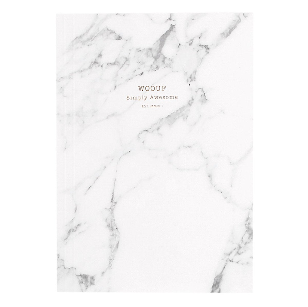 Notebook A5 White Marble
