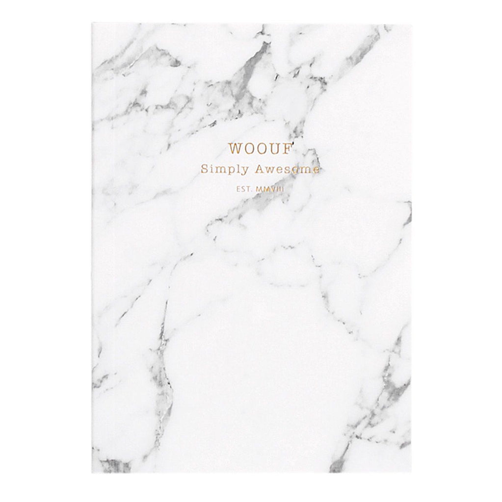 Notebook A6 White Marble