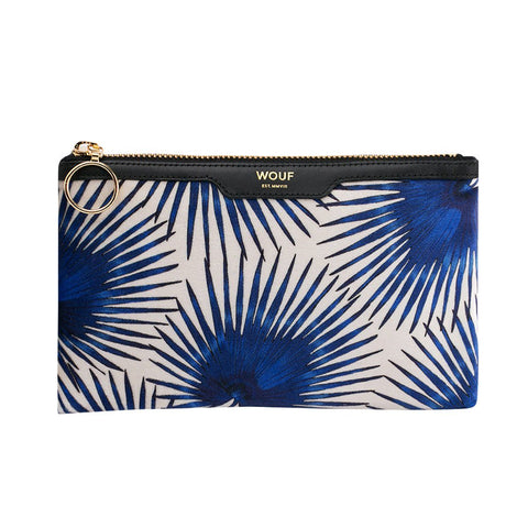 Pocket Clutch Blue Palms