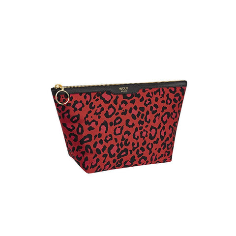 Satin Beauty Red Leopard