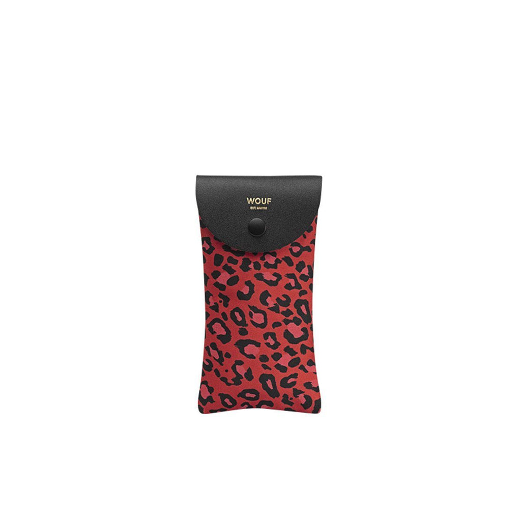 Sunglasses Case Red Leopard