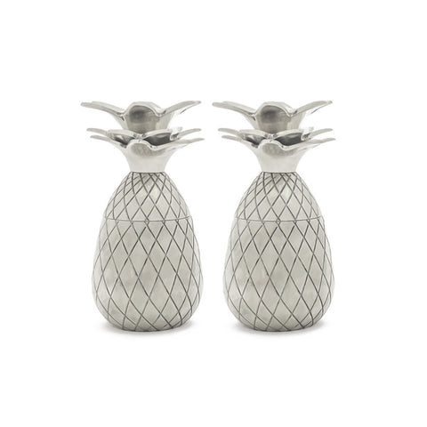 Pineapple Shot Glass (Set Of 2) Silver