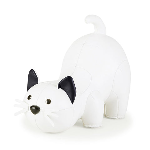 Bookend Classic Cat White