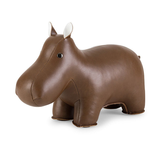Bookend Classic Hippo Brown