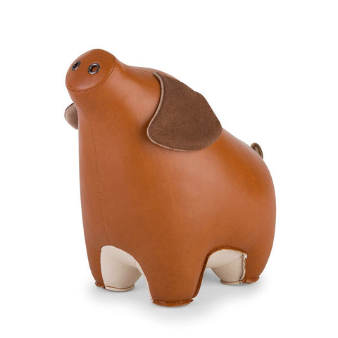 Bookend Pig Tan