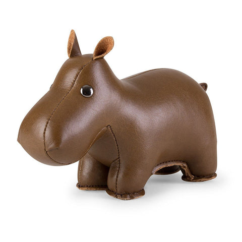 Paperweight Classic Hippo Brown