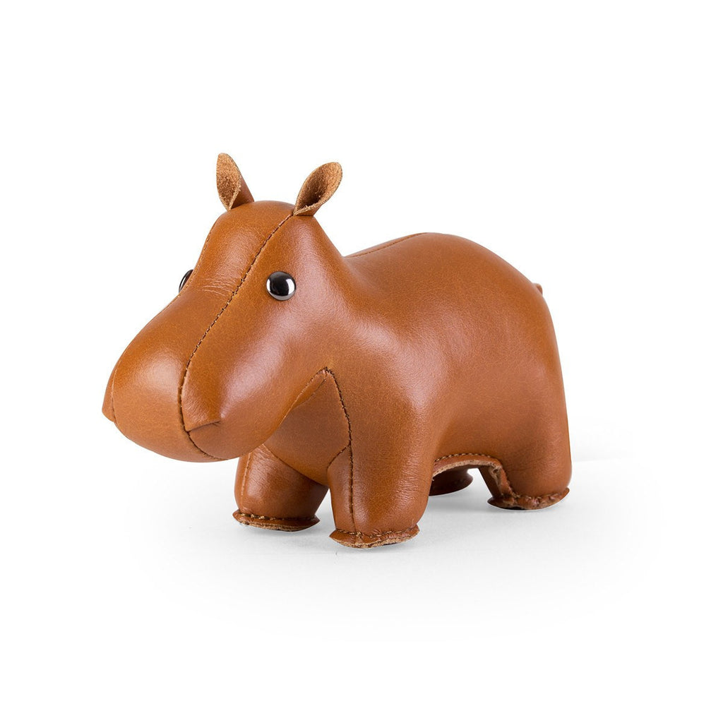 Paperweight Classic Hippo Tan