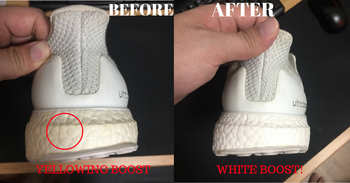 adidas ultra boost white how to clean