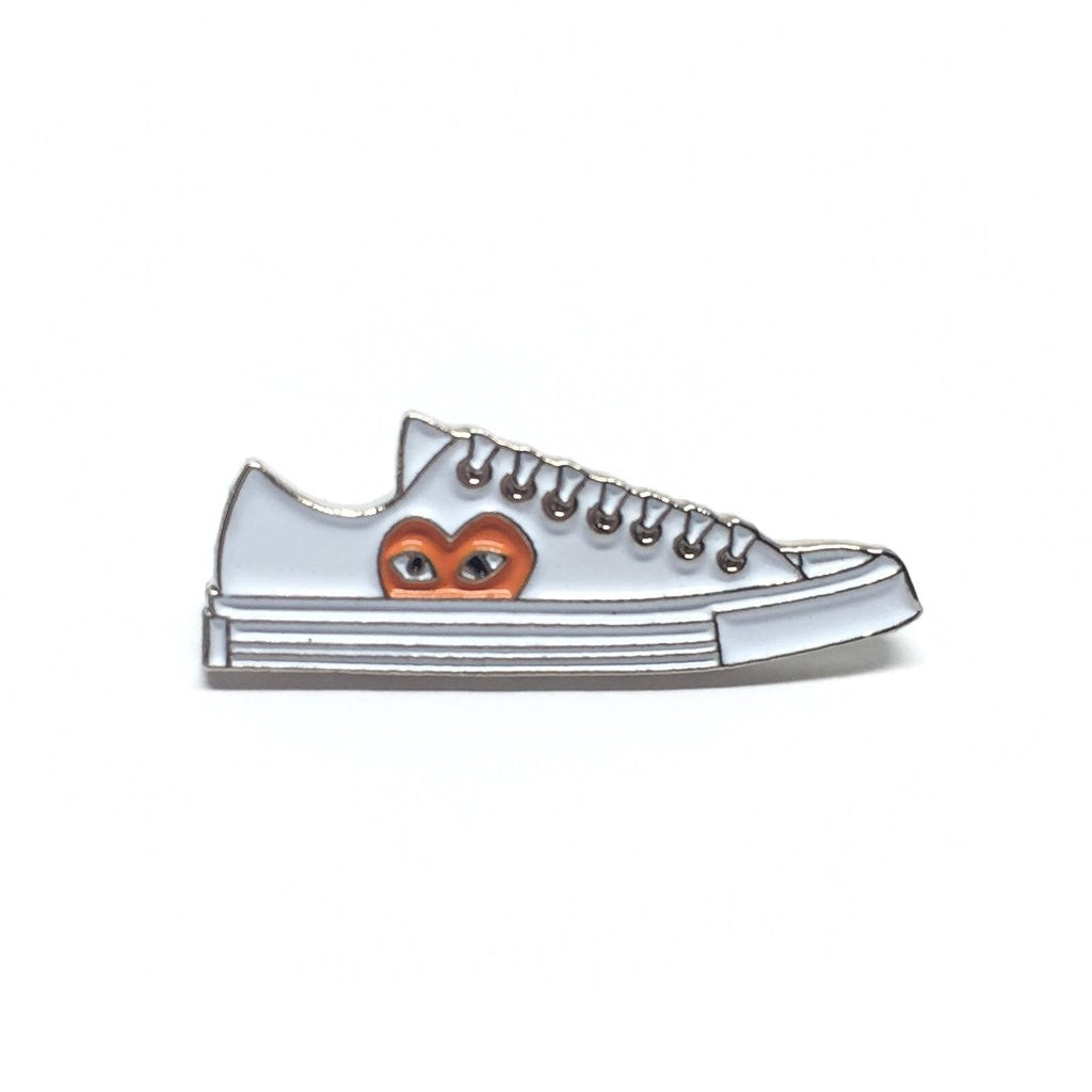 Custom Made Enamel / Lapel Pins - Sneaker Pins : PLAY All Star 70 Low Sneaker White