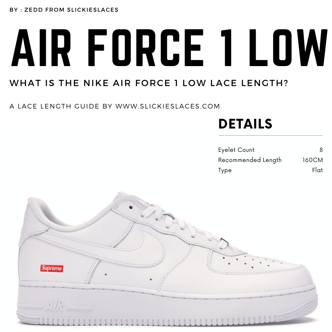 What is the NIKE Air Force 1 Low lace length? - Air Force 1 Low Replacement Laces