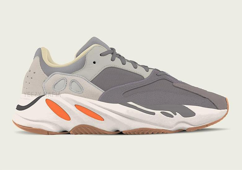 "A new adidas Yeezy 700 ""Magnet"" colorway surfaces 