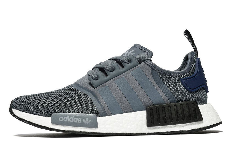 "How To Lace Your Sneakers / Swap Your Shoe Laces : ADIDAS NMD R1 ""Georgetown"" Grey Navy"
