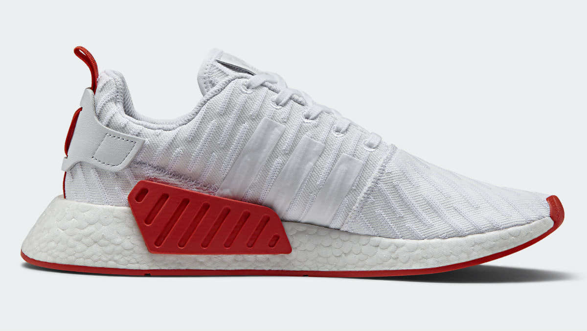 How To Lace Your Sneakers / Swap Your Shoe Laces : ADIDAS NMD R2 2TONE White / Core Red