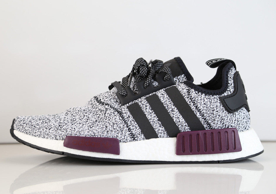newest b8073 711ec How To Lace Your Sneakers   Swap Your Shoe Laces   ADIDAS NMD R1 Black  Maroon