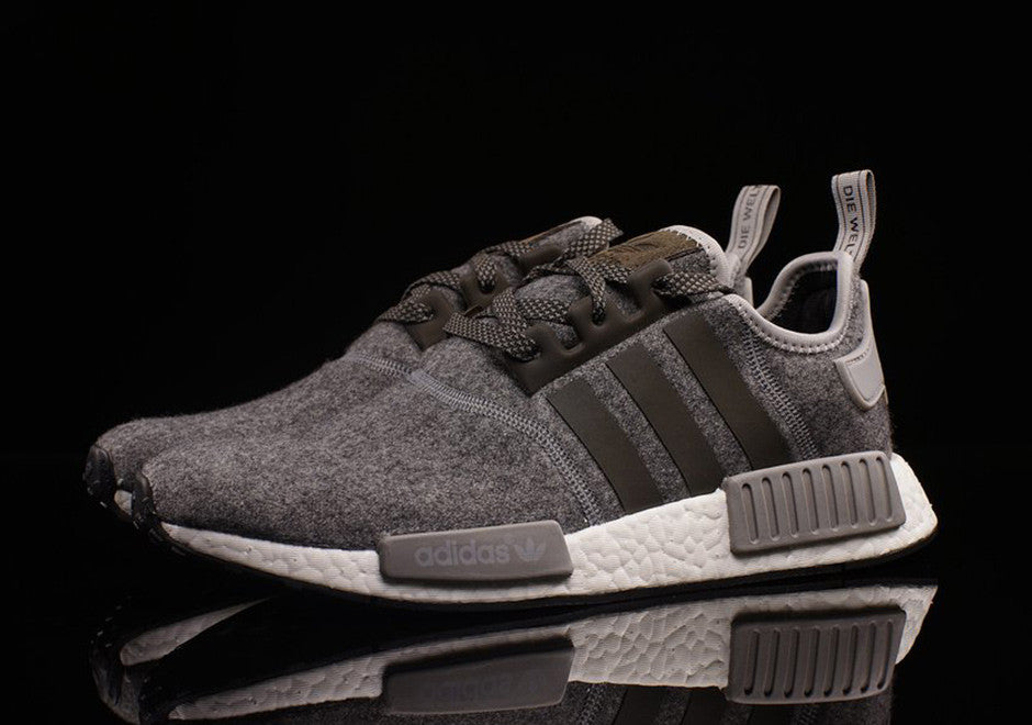 How To Lace Your Sneakers / Swap Your Shoe Laces : ADIDAS NMD Wool Charcoal