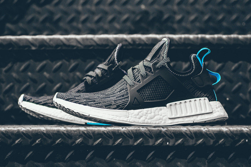 How To Lace Your Sneakers / Swap Your Shoe Laces : ADIDAS NMD XR1 Primeknit Core Black / Sky Blue