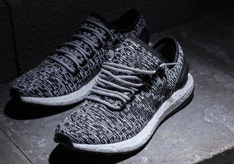 Unveiling the new ADIDAS Pure BOOST BlackWhite Slickies
