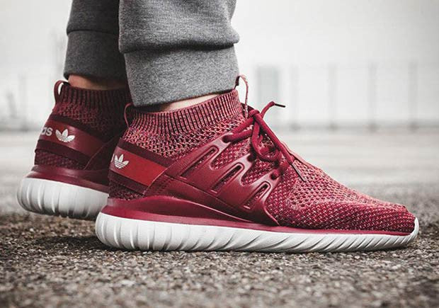 a53768853ec4 How To Lace Your Sneakers   Swap Your Shoe Laces   ADIDAS Tubular Nova  Burgundy Red