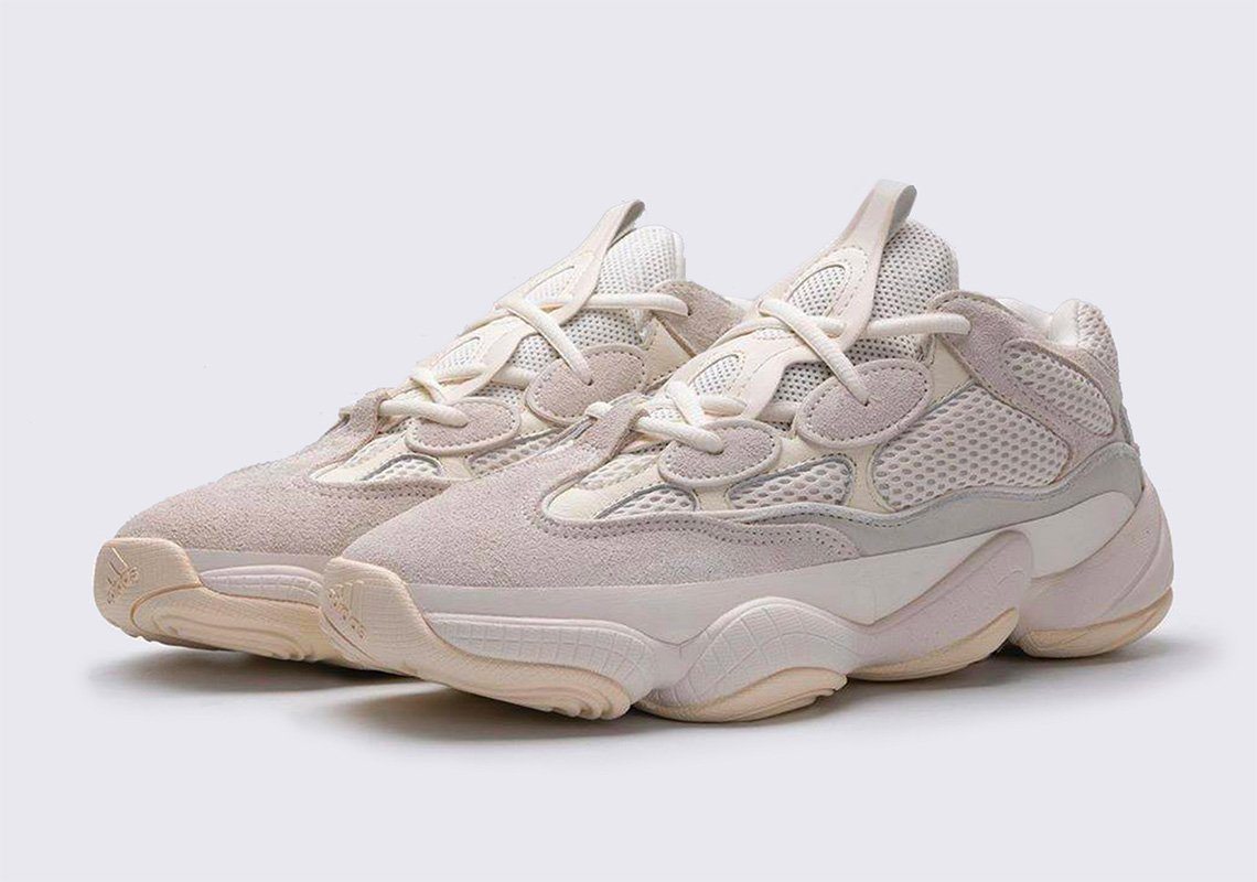 Detailed look at the Yeezy 500 Bone
