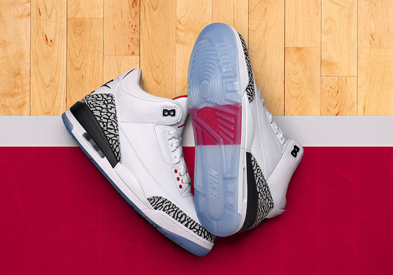 How To Lace Your Sneakers / Swap Your Shoe Laces : NIKE Air Jordan 3 Free Throw Line