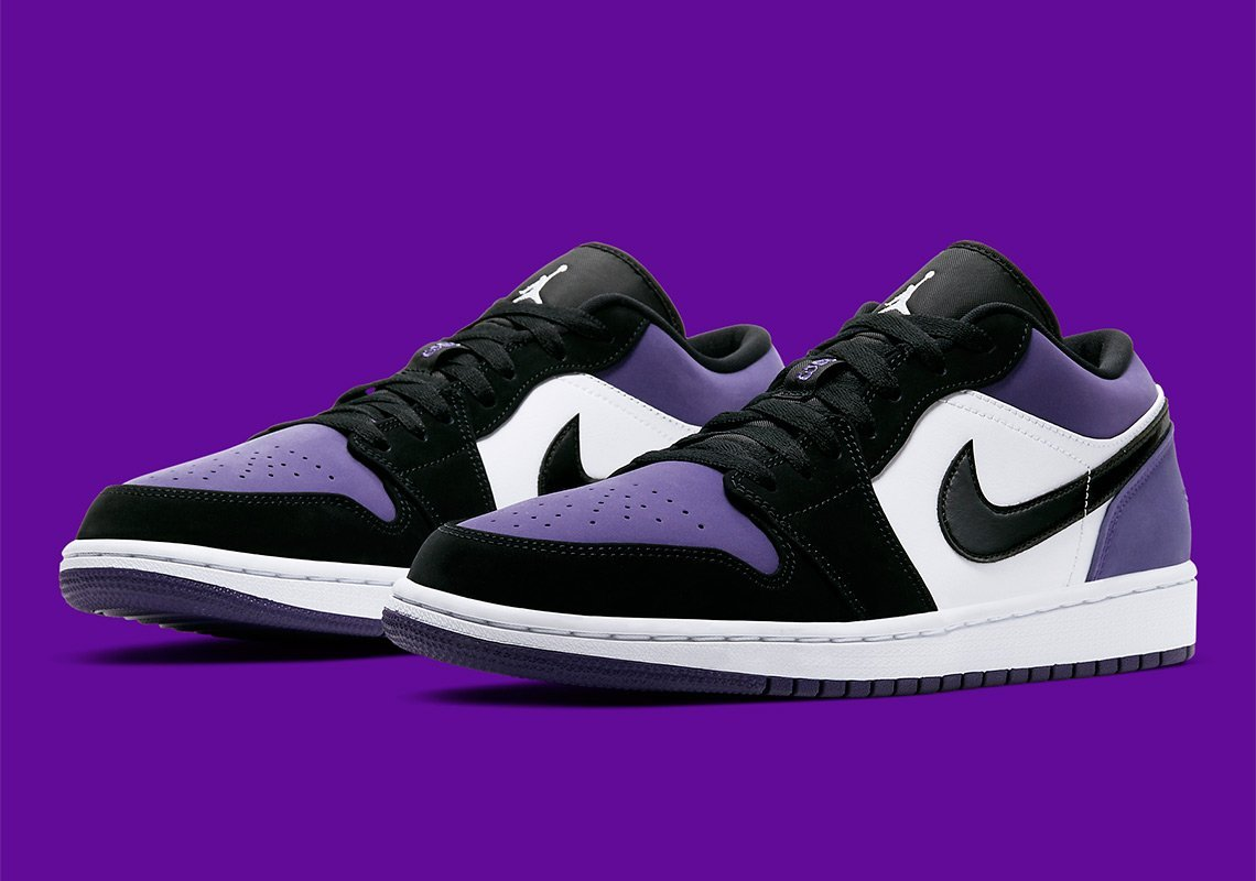 "Official images of the Jordan 1 Low ""Court Purple"" 