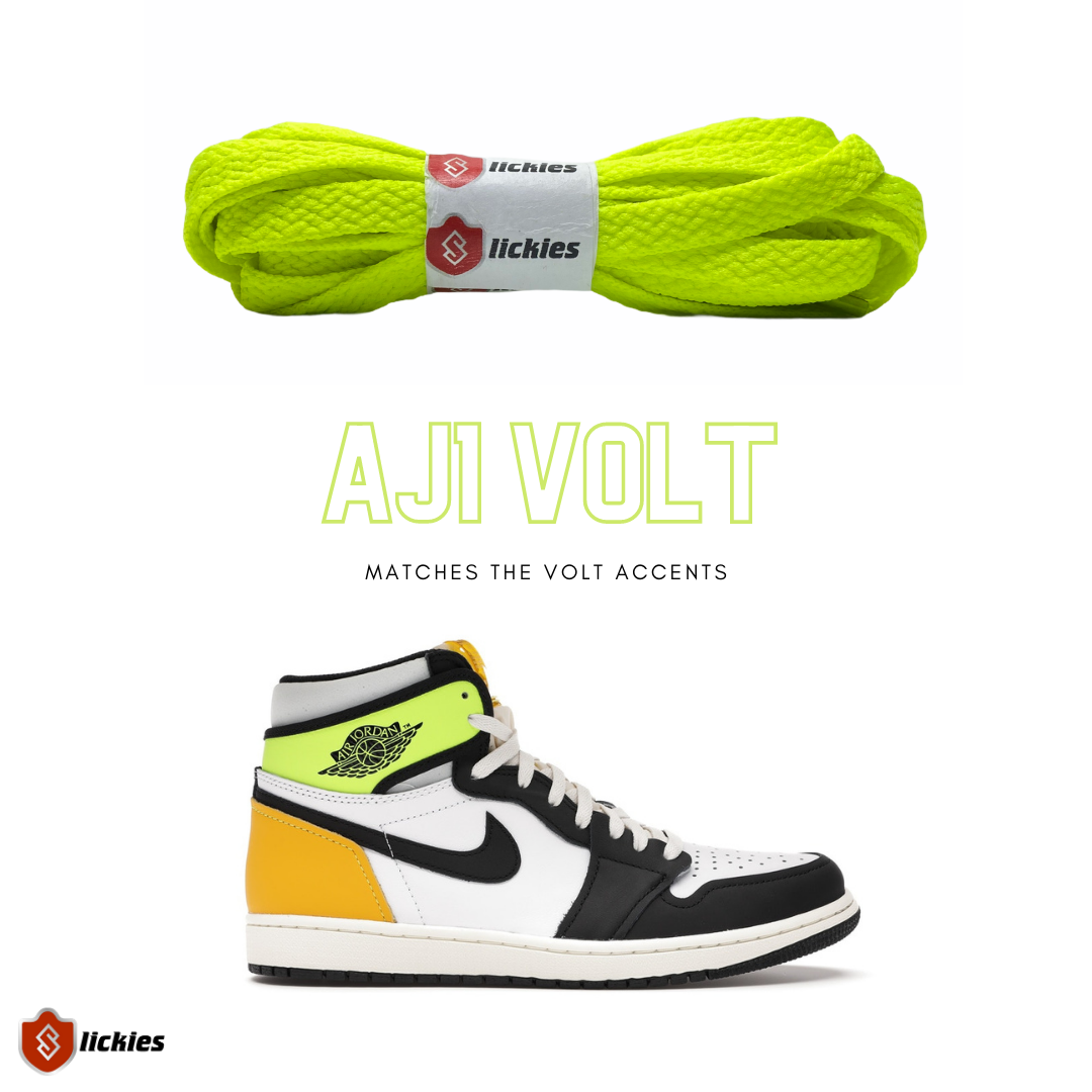 Where to buy shoe laces for the NIKE Air Jordan 1 Volt University Gold?