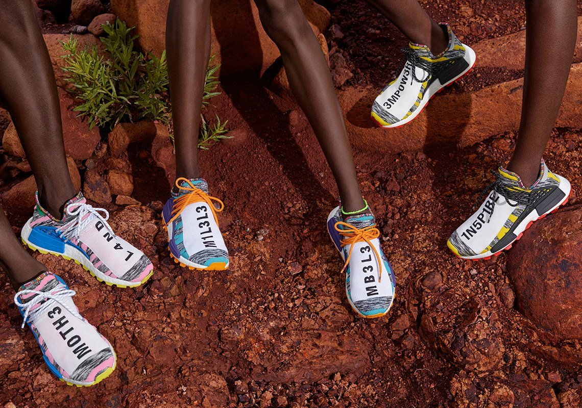 Pharrell and ADIDAS Originals will be releasing the SOLARHU collection | Slickies