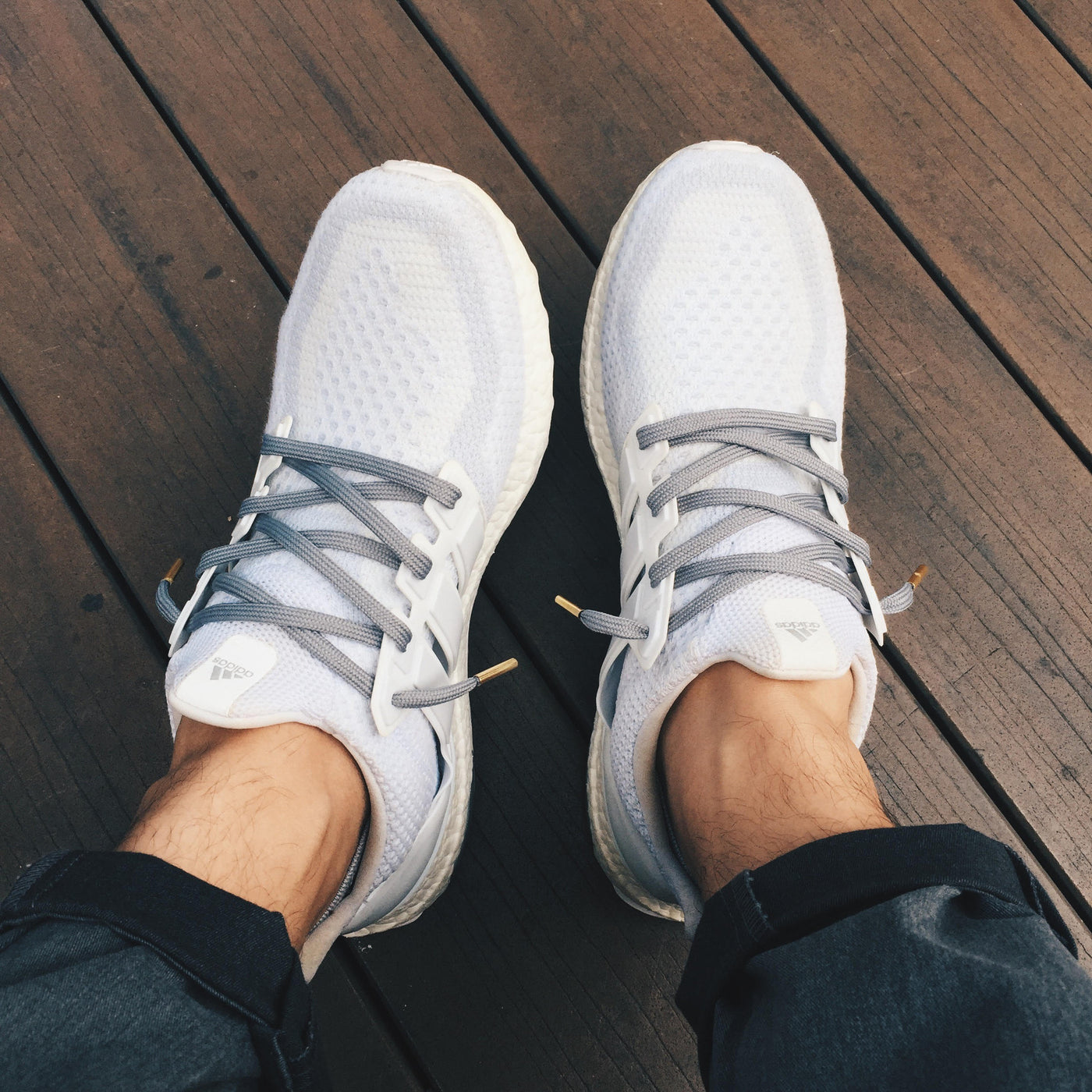 cf3ef404a7c8 SHOELACE RECOMMENDATIONS - Adidas Ultra Boost White - Slickies