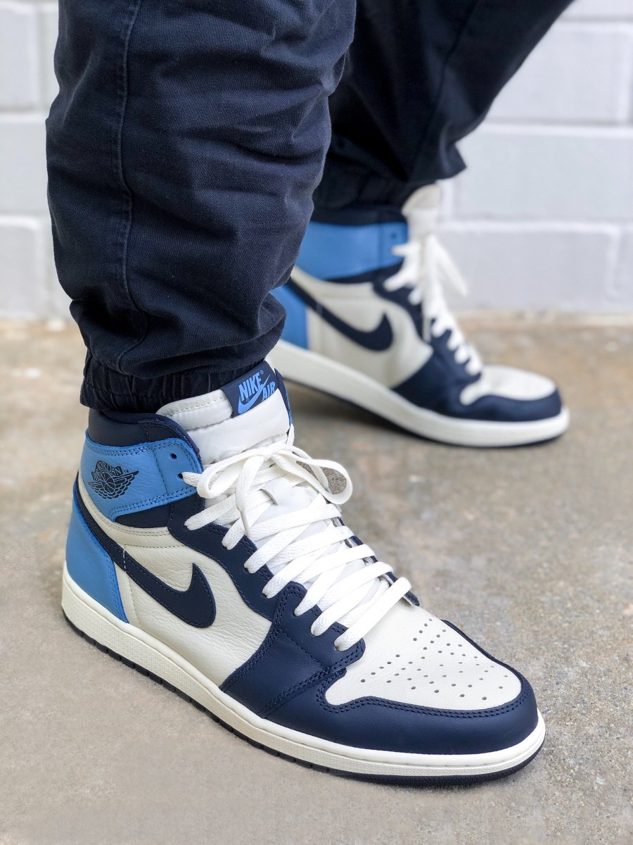 Where to buy shoe laces for the Air Jordan 1 UNC Obsidian? | Slickies