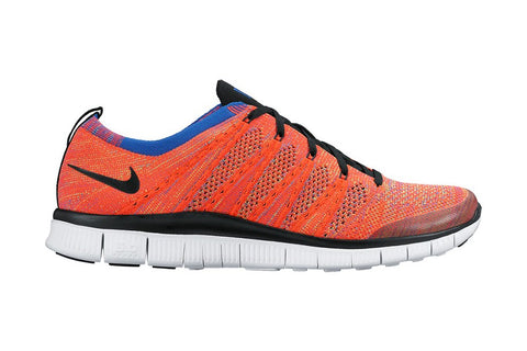 nike free flyknit nsw bright crimson black green