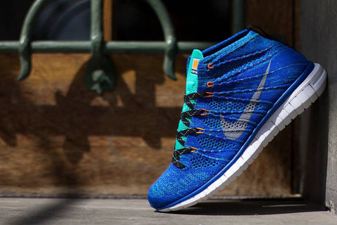 nike flyknit free chukka game royal wolf grey