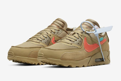"Off-White x Nike Air Max 90 ""Desert Ore"" rumored to release on January 17th"