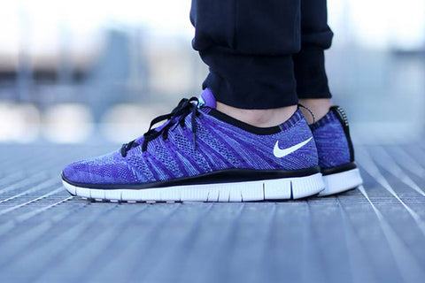 nike free flyknit nsw court purple