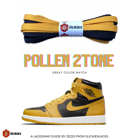 Jordan 1 Pollen : Where to buy shoe laces? | By Slickieslaces