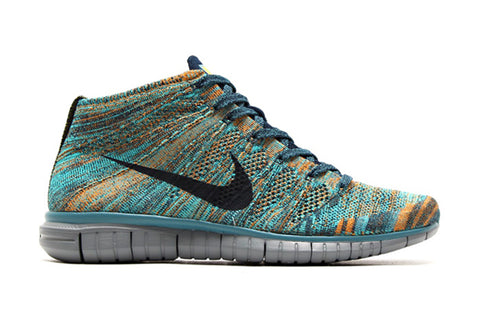 nike flyknit free chukka mineral teal