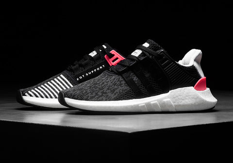 How To Lace Your Sneakers / Swap Your Shoelaces : ADIDAS EQT Support 93/17 BOOST Turbo Red