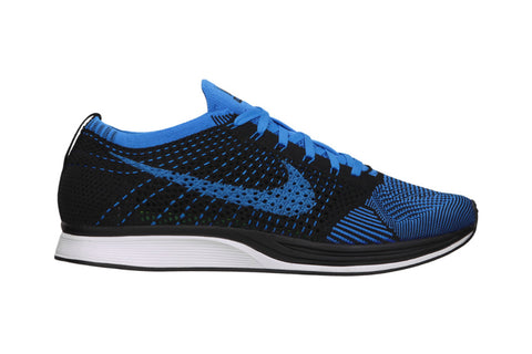 nike flyknit racer photo blue