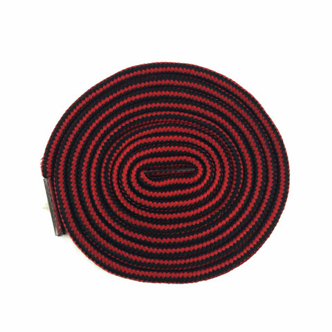 striped black red rope shoelaces