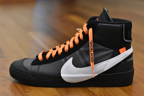 off white laces orange flat