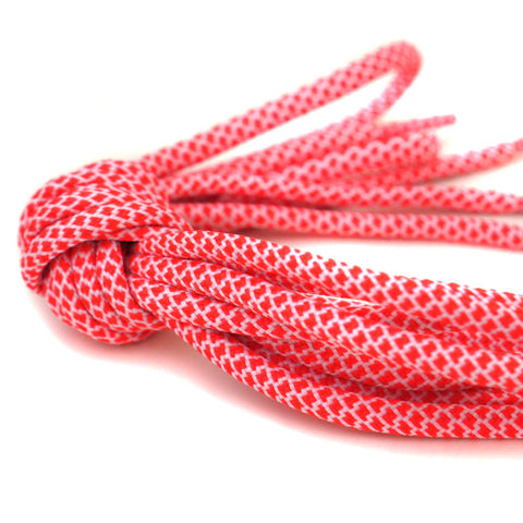 2tone scarlet red white shoelaces laces rope