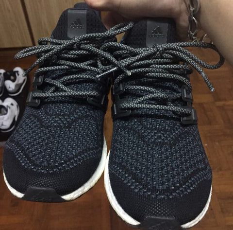 adidas ultra boost black laceswap