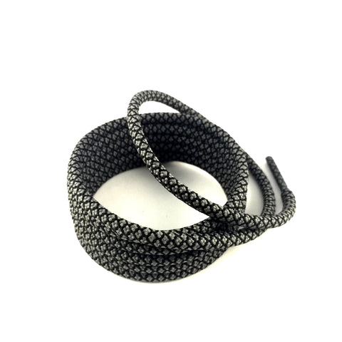 2tone charcoal grey rope shoelaces