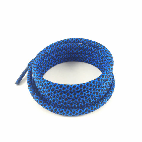 2tone electric blue rope shoelaces laces slickieslaces